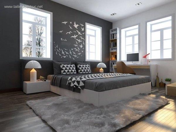 Màu xám cho không gian nhà